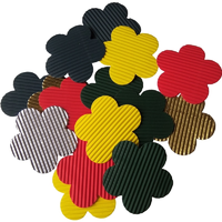 Coloured Corrugated Card Flowers