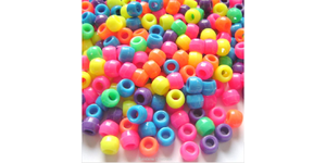500 Pony Beads - Assorted Colours