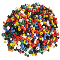 Wooden Beads Assorted Colours, Shapes, Sizes In Bulk