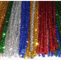 Metallic Tinsel Pipe Cleaners